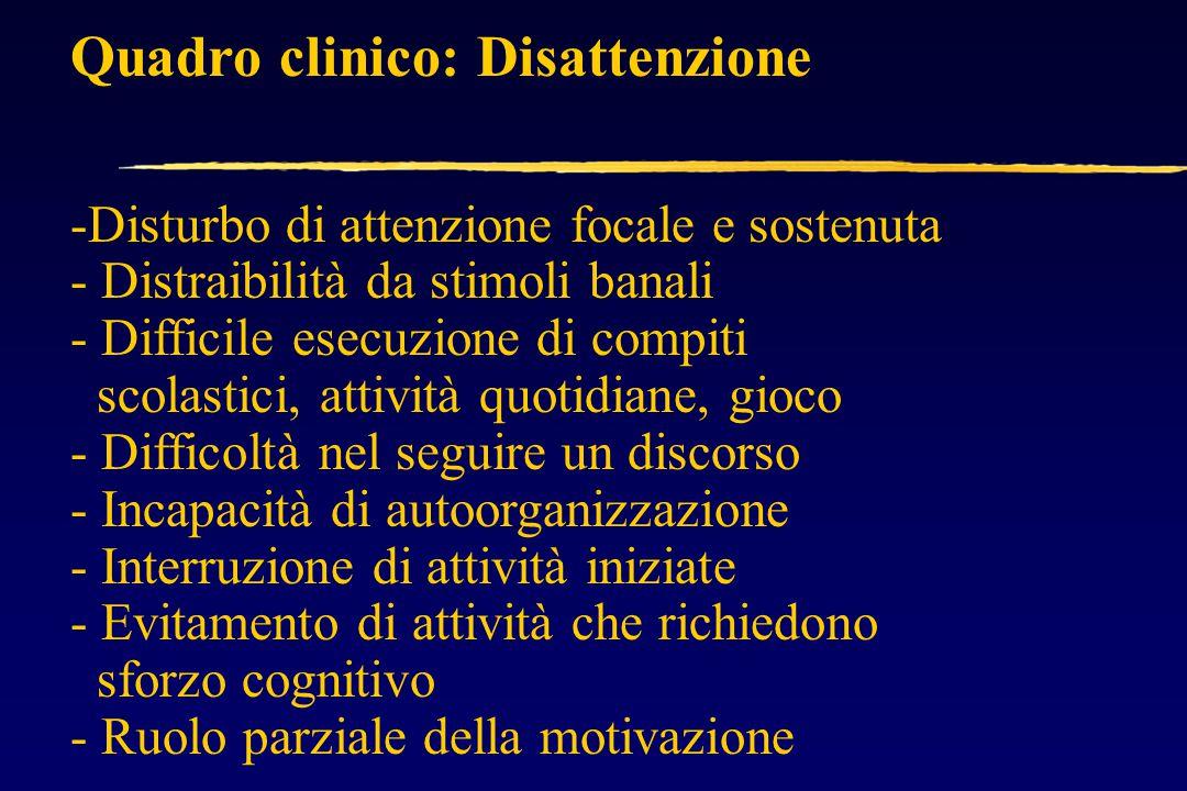 Quadro clinico: Disattenzione