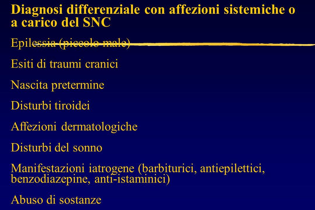 Diagnosi differenziale con affezioni sistemiche o a carico del SNC