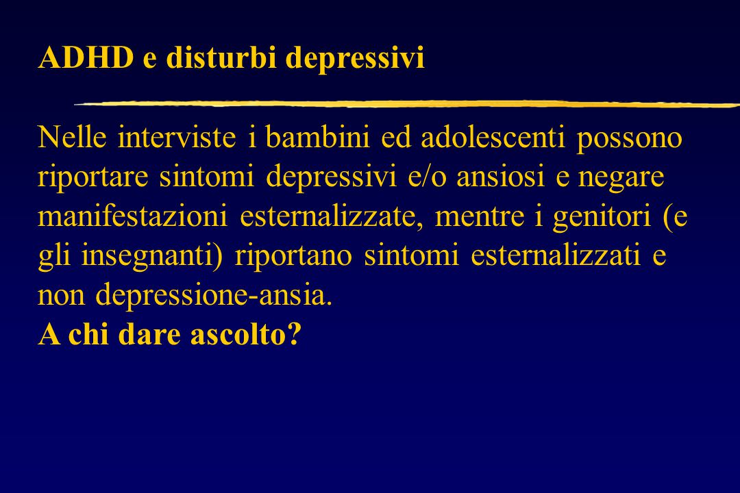 ADHD e disturbi depressivi