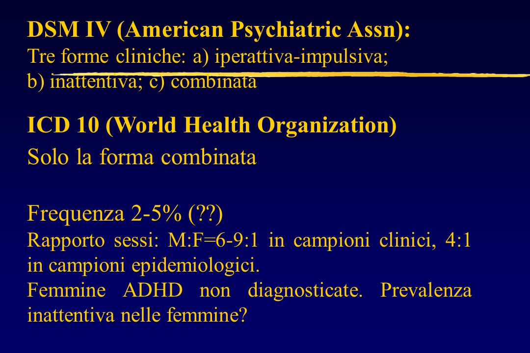 DSM IV (American Psychiatric Assn):