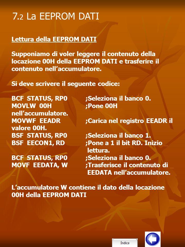 7.2 La EEPROM DATI Lettura della EEPROM DATI