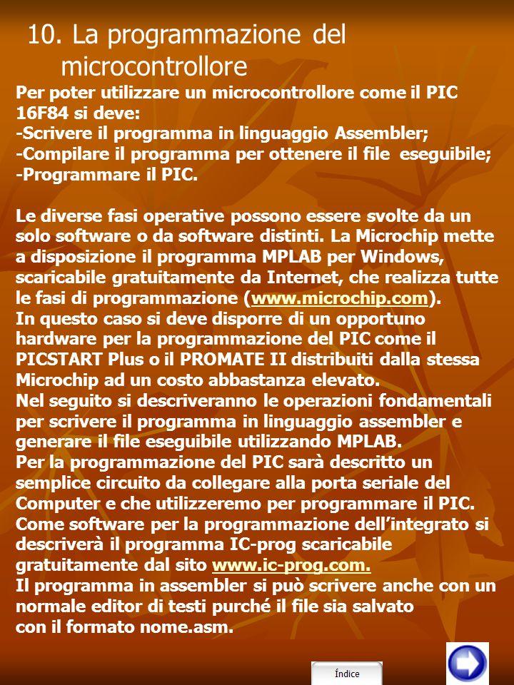 10. La programmazione del microcontrollore