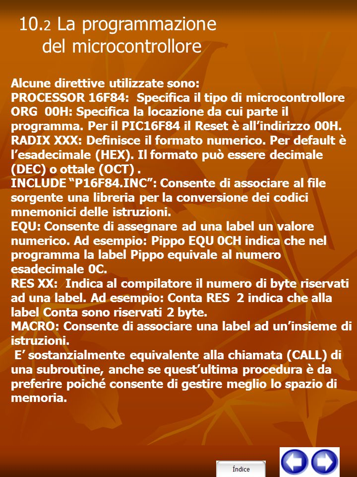 10.2 La programmazione del microcontrollore
