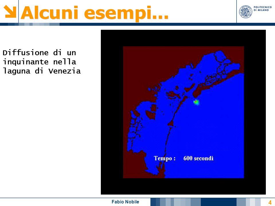 Alcuni esempi... Diffusione di un inquinante nella laguna di Venezia