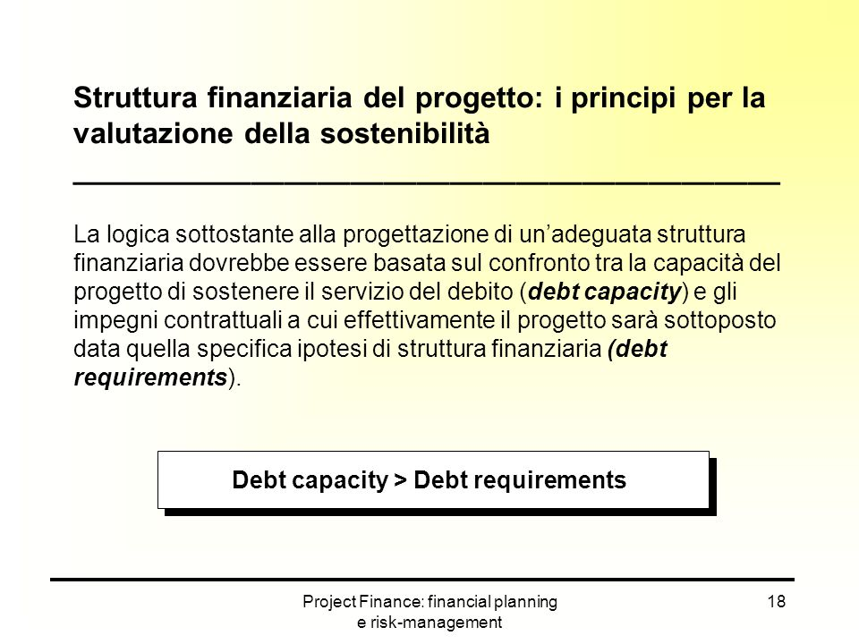 Debt capacity > Debt requirements