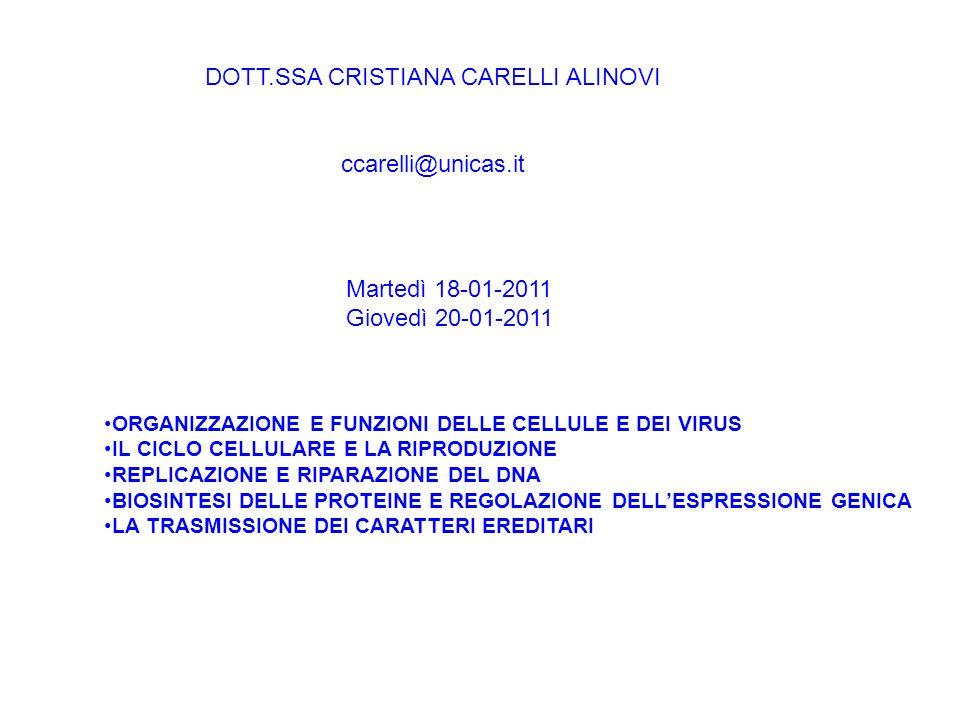 DOTT.SSA CRISTIANA CARELLI ALINOVI