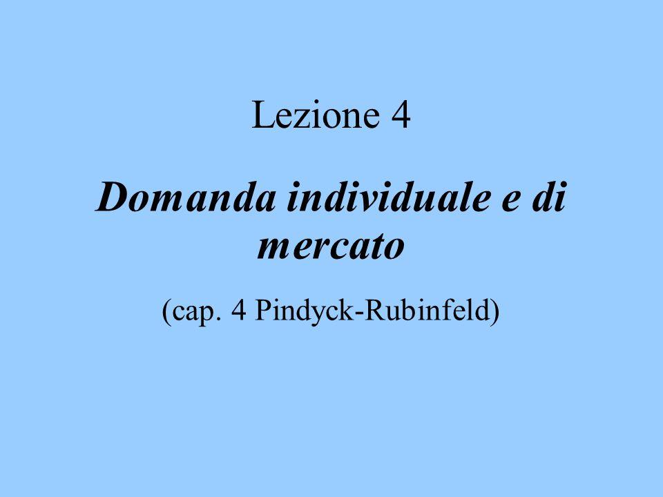 Domanda individuale e di mercato (cap. 4 Pindyck-Rubinfeld)