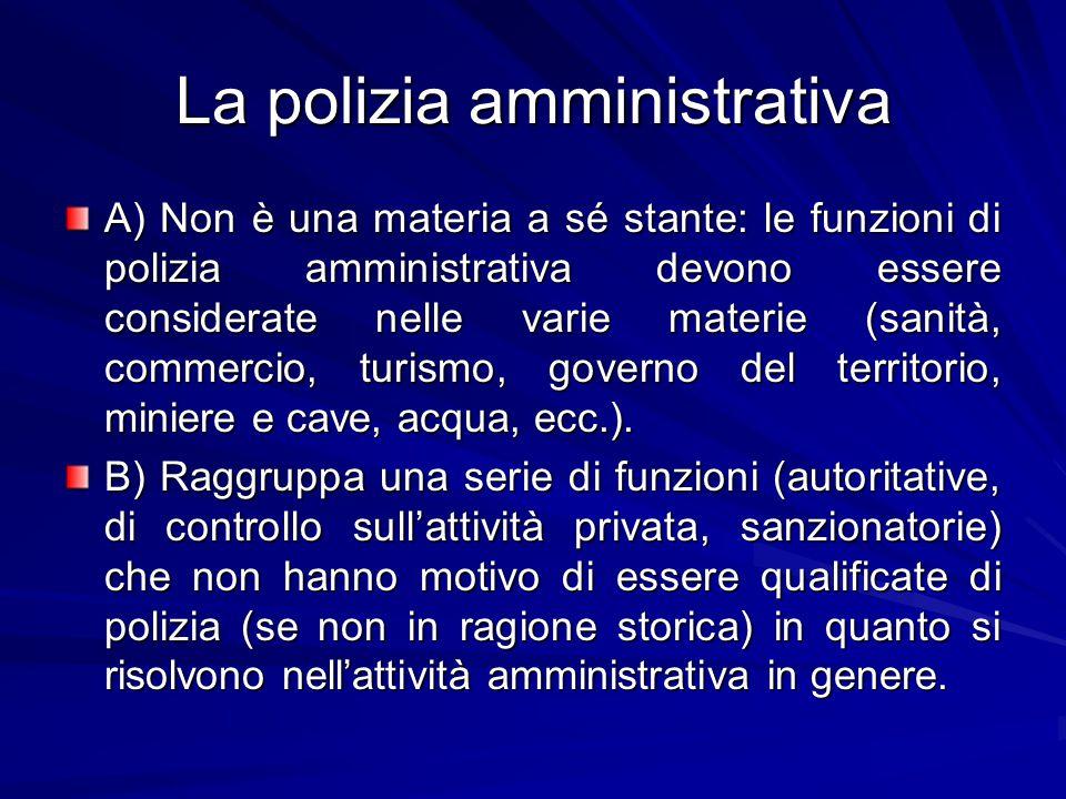 La polizia amministrativa