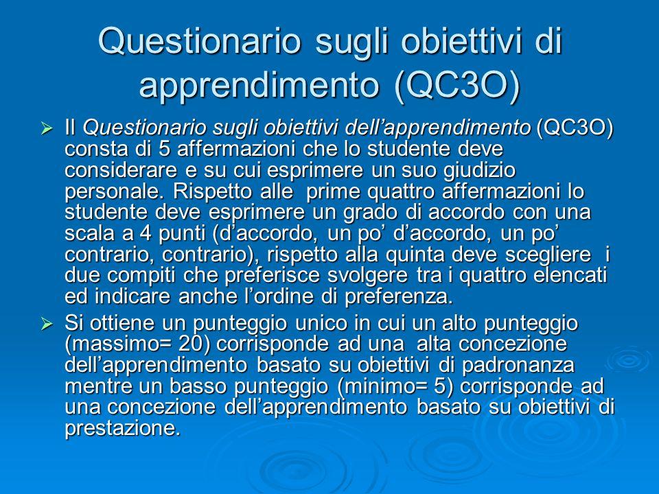 Questionario sugli obiettivi di apprendimento (QC3O)