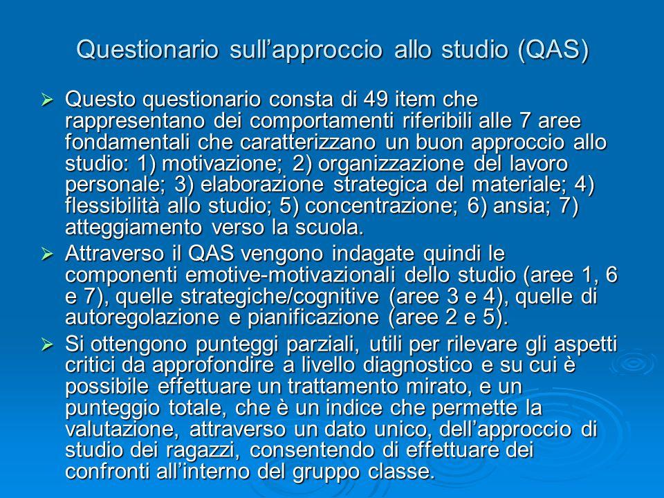 Questionario sull'approccio allo studio (QAS)
