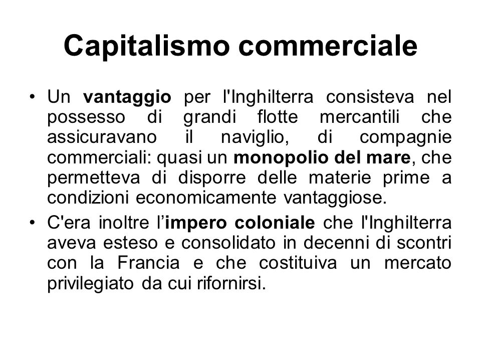 Capitalismo commerciale