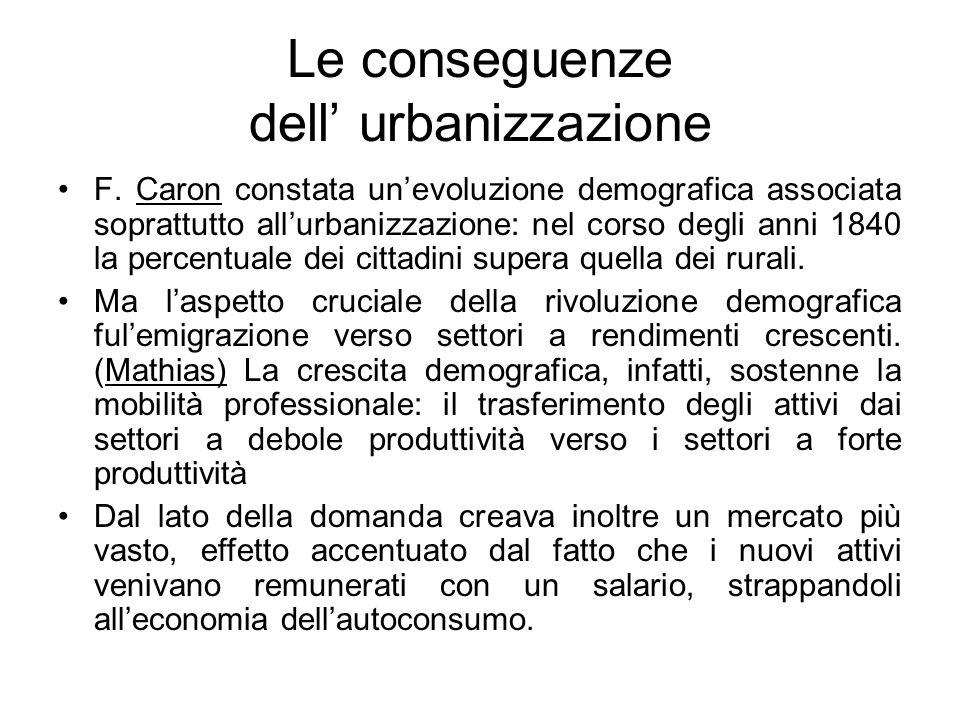 Le conseguenze dell' urbanizzazione
