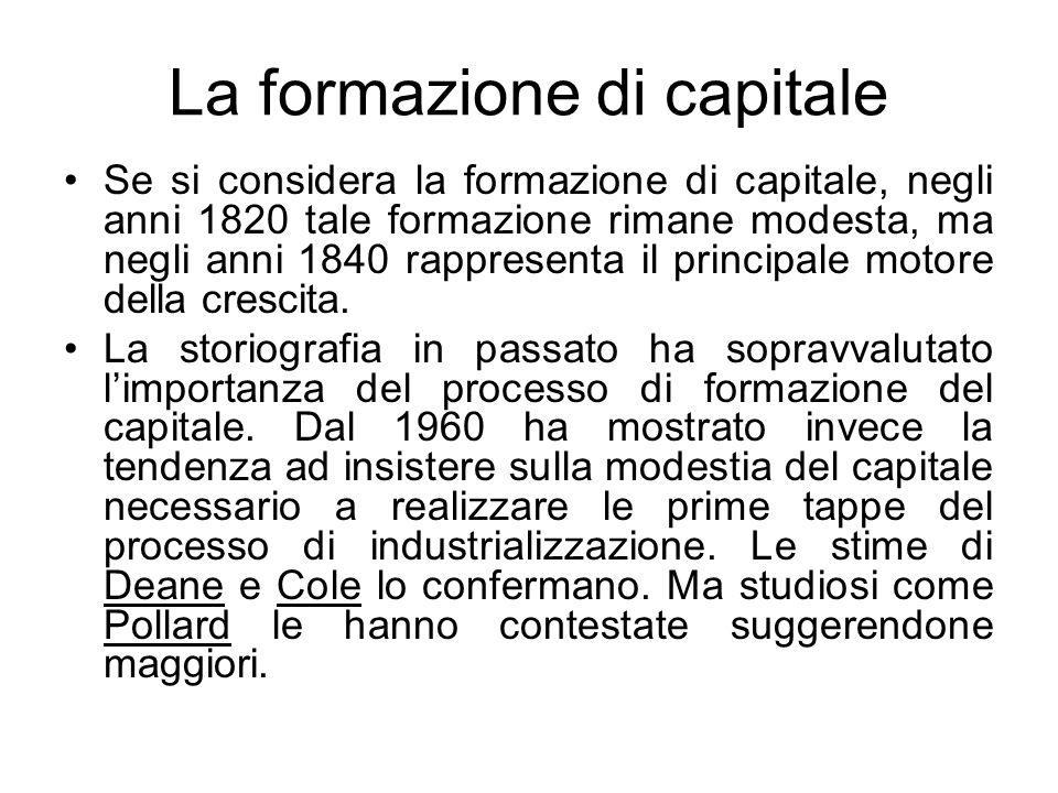 La formazione di capitale