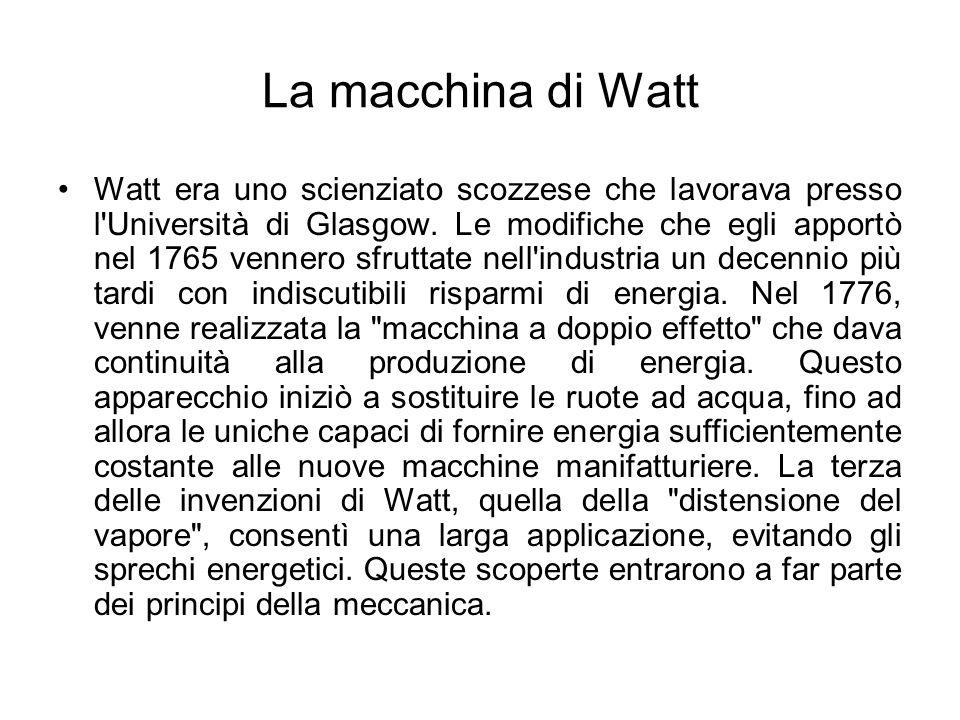 La macchina di Watt