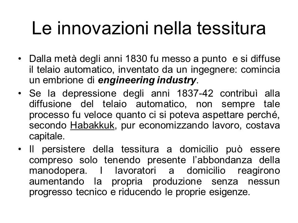 Le innovazioni nella tessitura