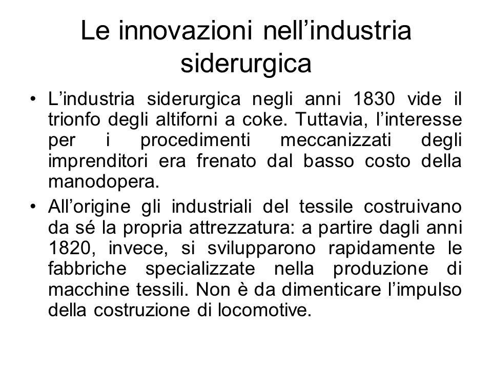Le innovazioni nell'industria siderurgica