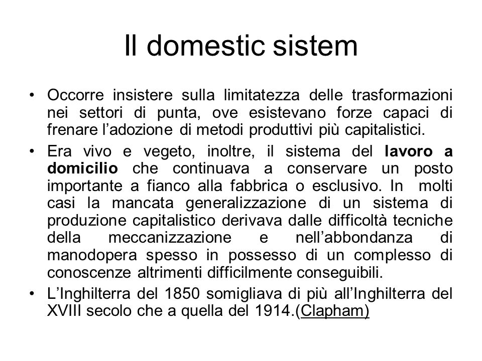 Il domestic sistem
