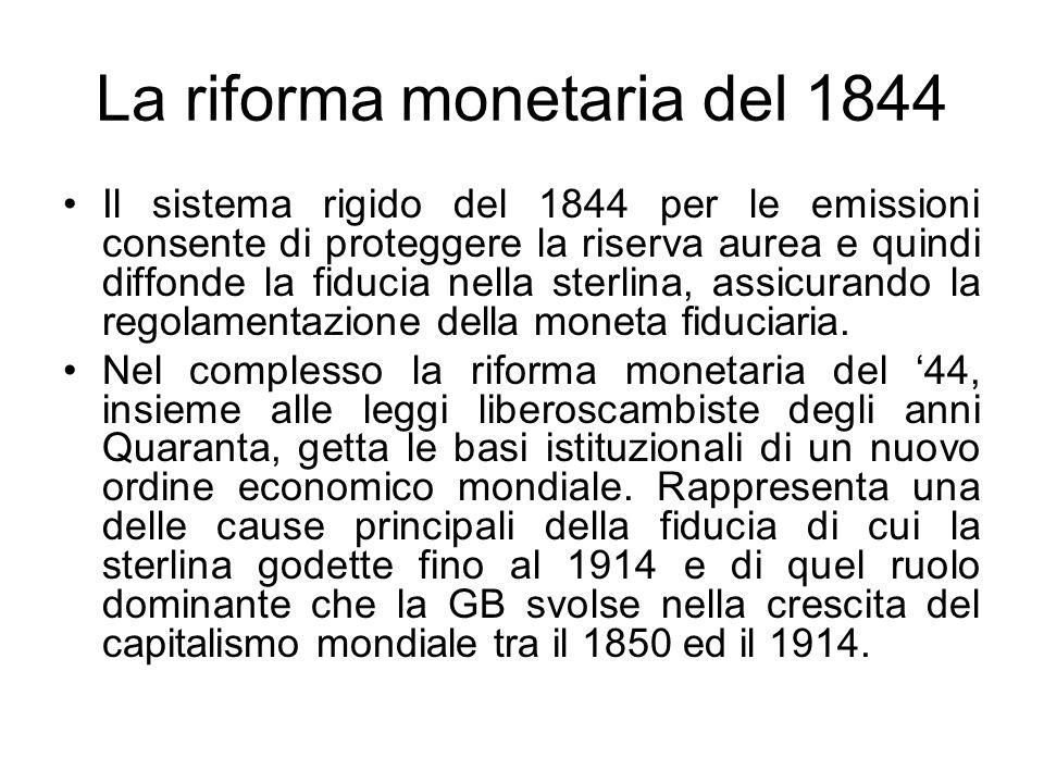 La riforma monetaria del 1844