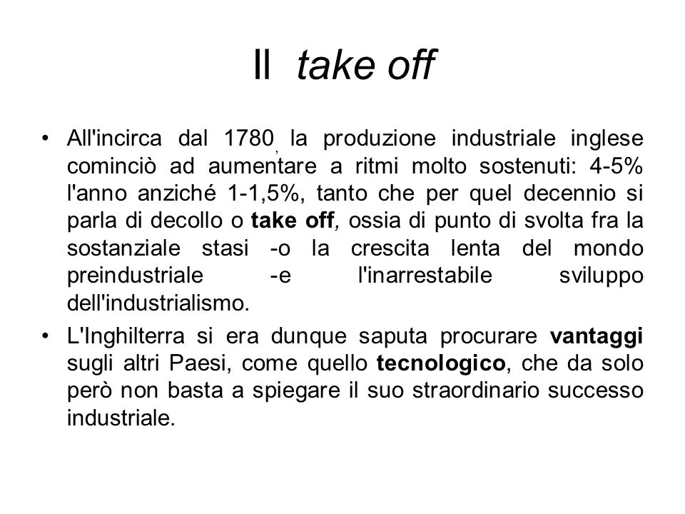 Il take off