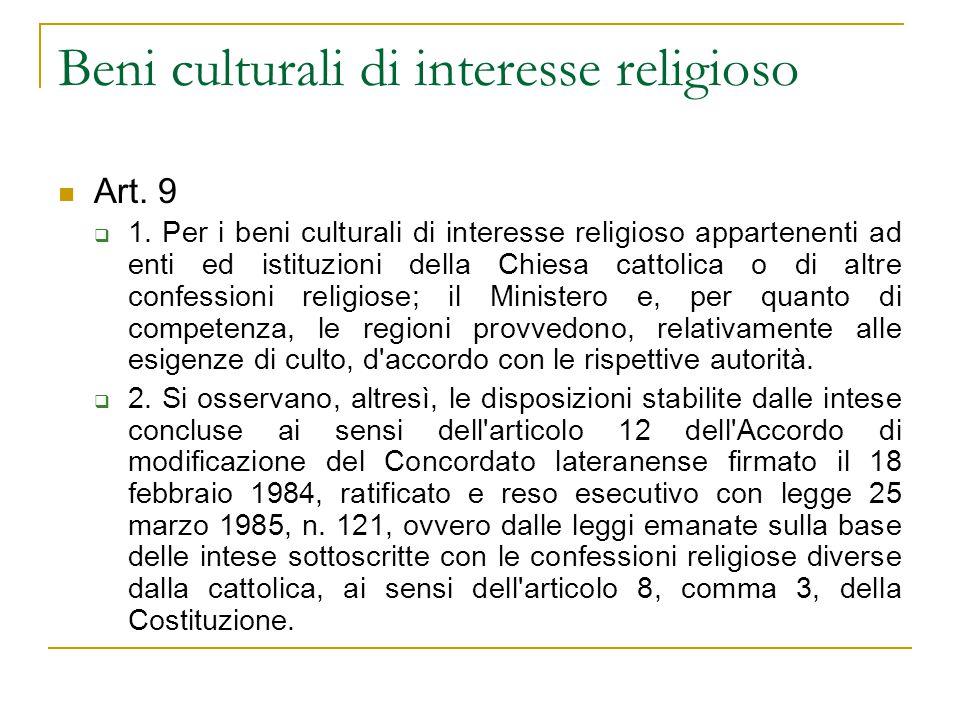 Beni culturali di interesse religioso