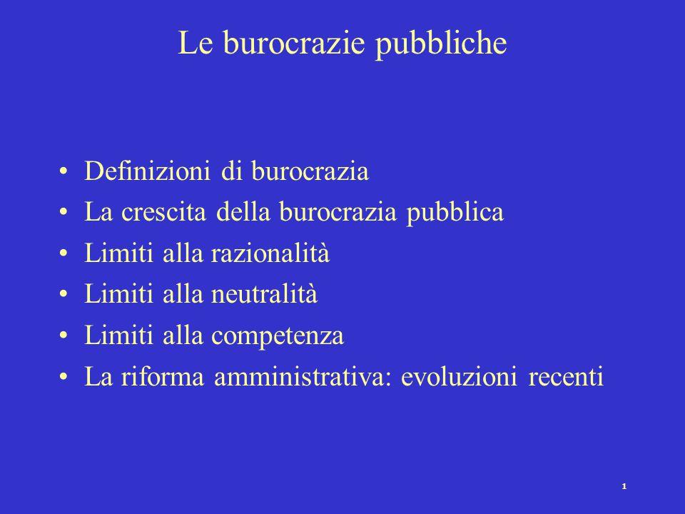 Le burocrazie pubbliche
