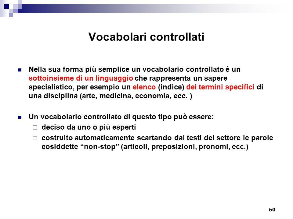 Vocabolari controllati