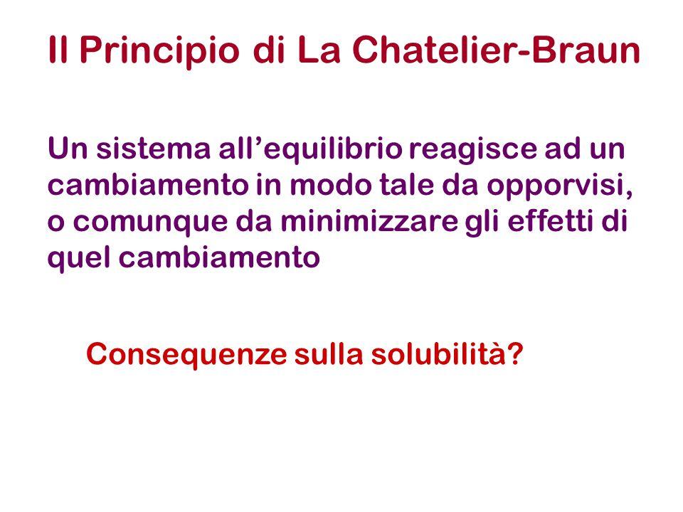 Il Principio di La Chatelier-Braun