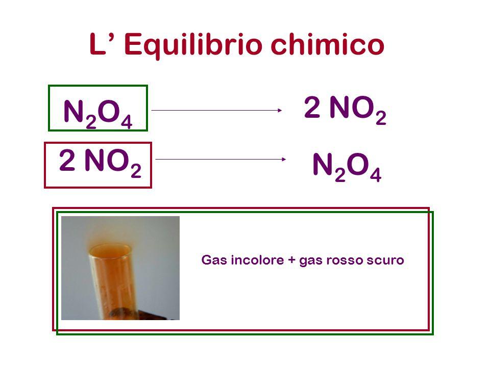 L' Equilibrio chimico 2 NO2 N2O4 2 NO2 N2O4