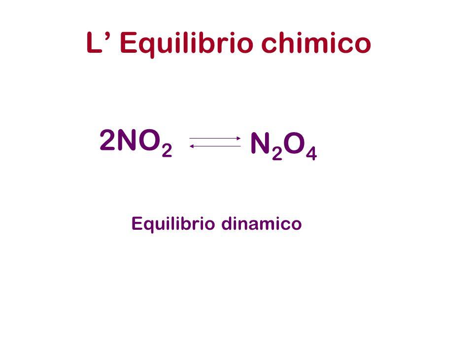 L' Equilibrio chimico 2NO2 N2O4 Equilibrio dinamico