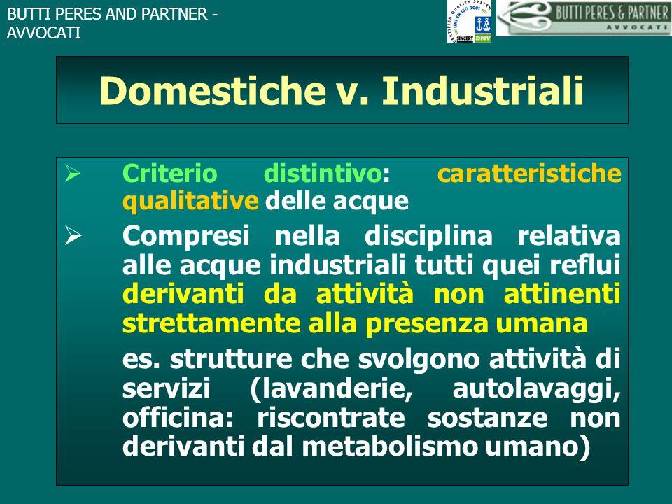 Domestiche v. Industriali