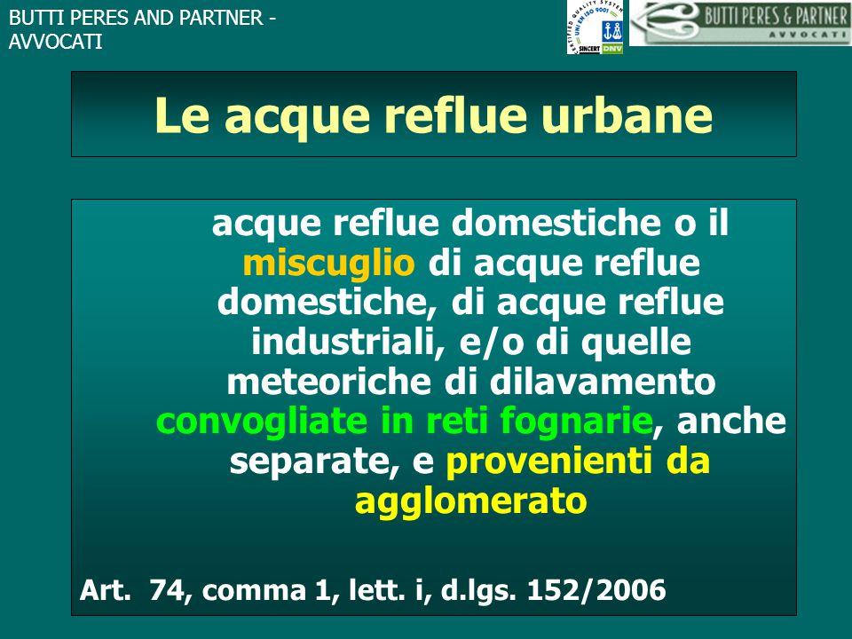 Le acque reflue urbane