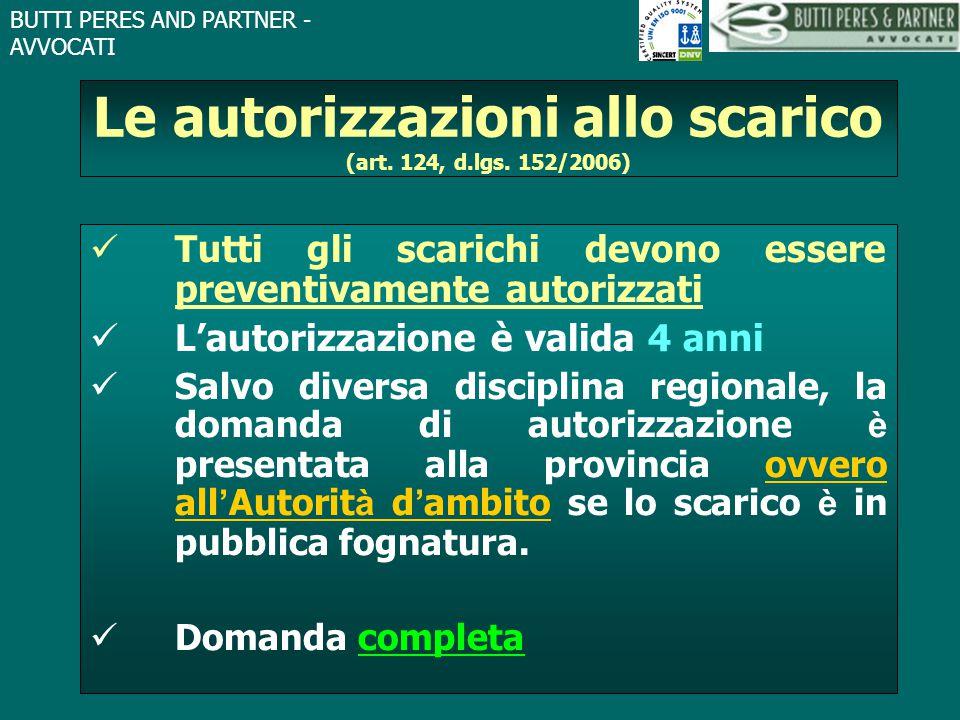 Le autorizzazioni allo scarico (art. 124, d.lgs. 152/2006)