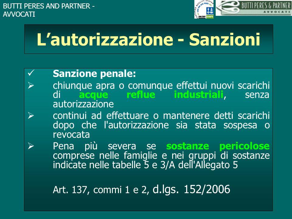 L'autorizzazione - Sanzioni