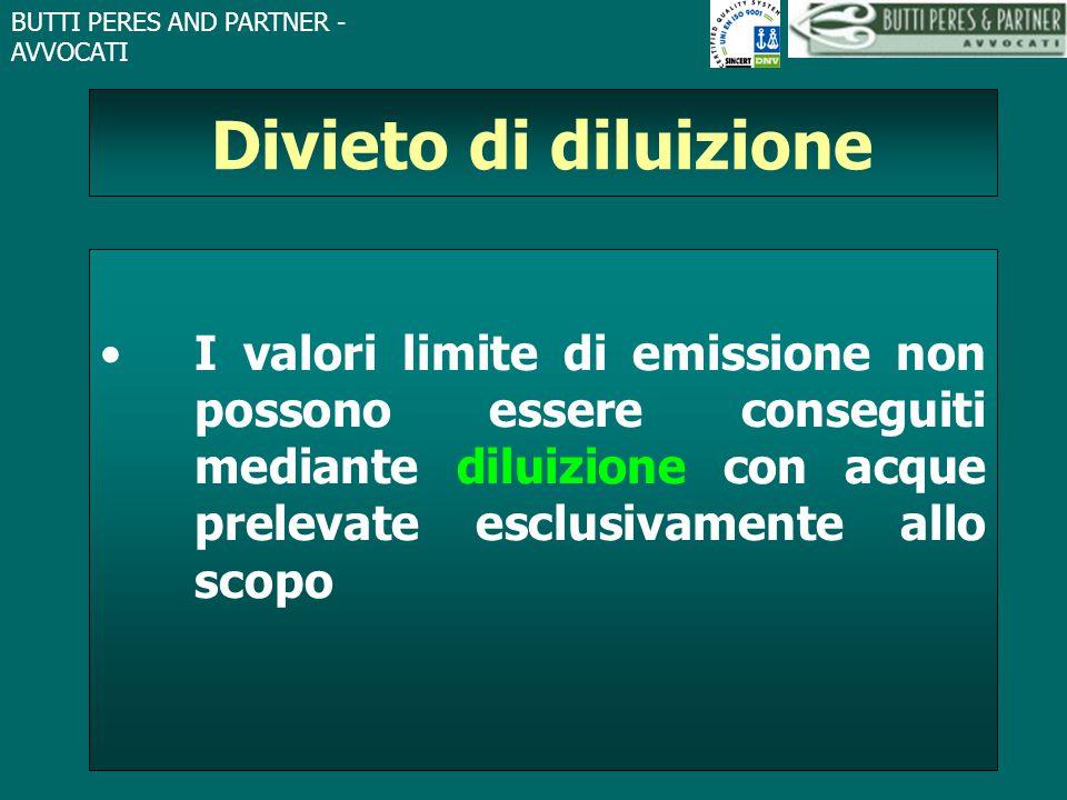 Divieto di diluizione I valori limite di emissione non possono essere conseguiti mediante diluizione con acque prelevate esclusivamente allo scopo.