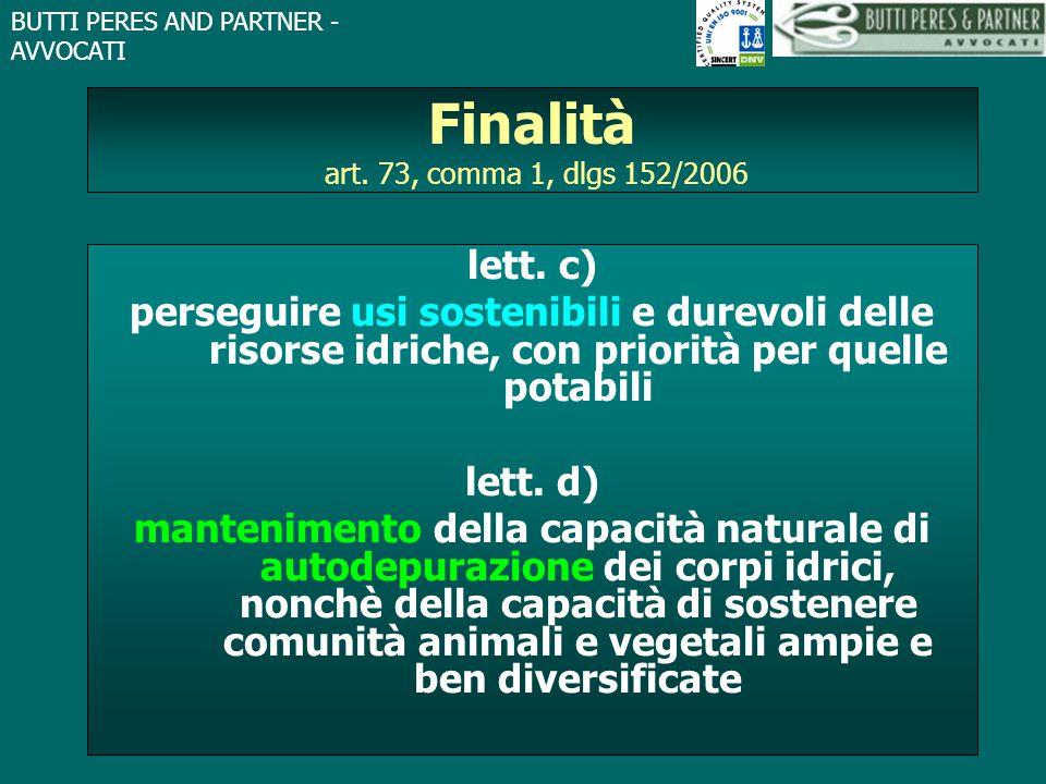 Finalità art. 73, comma 1, dlgs 152/2006
