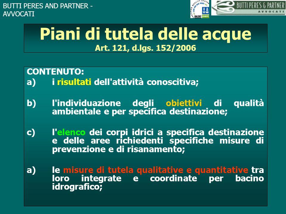 Piani di tutela delle acque Art. 121, d.lgs. 152/2006