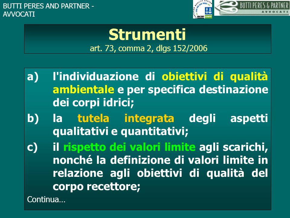 Strumenti art. 73, comma 2, dlgs 152/2006