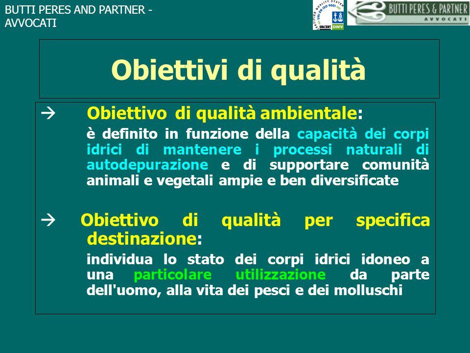 Obiettivi di qualità  Obiettivo di qualità ambientale: