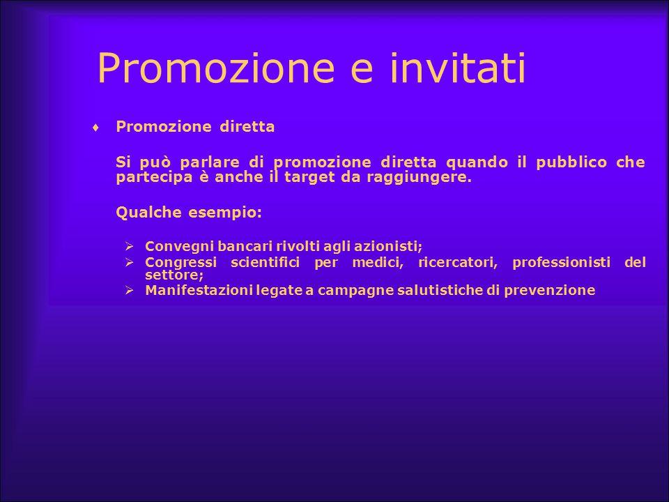 Promozione e invitati Promozione diretta