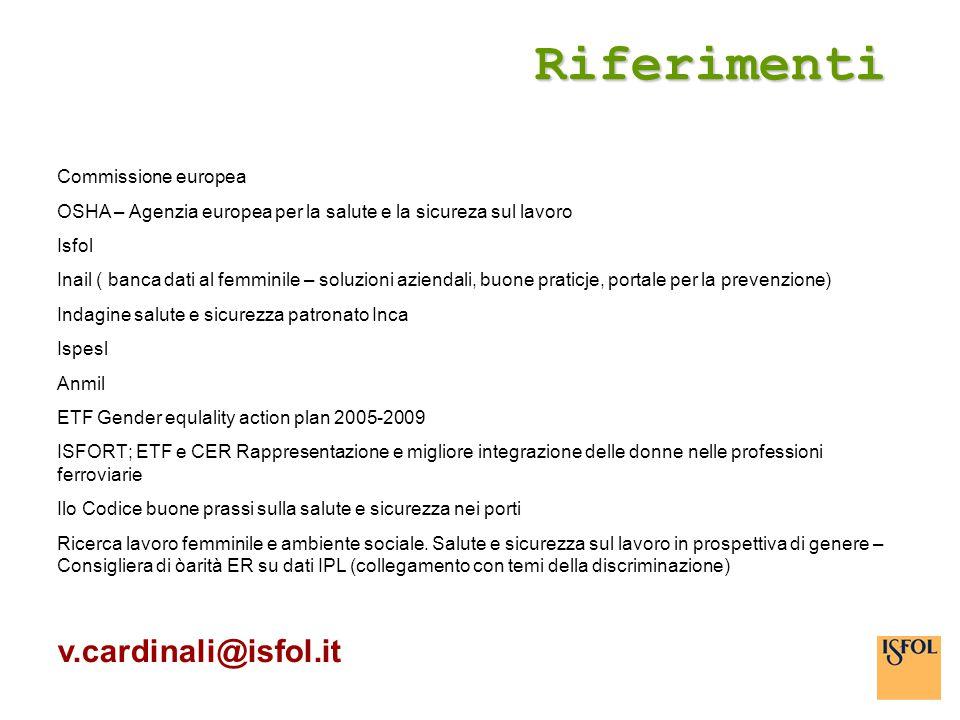 Riferimenti v.cardinali@isfol.it Commissione europea