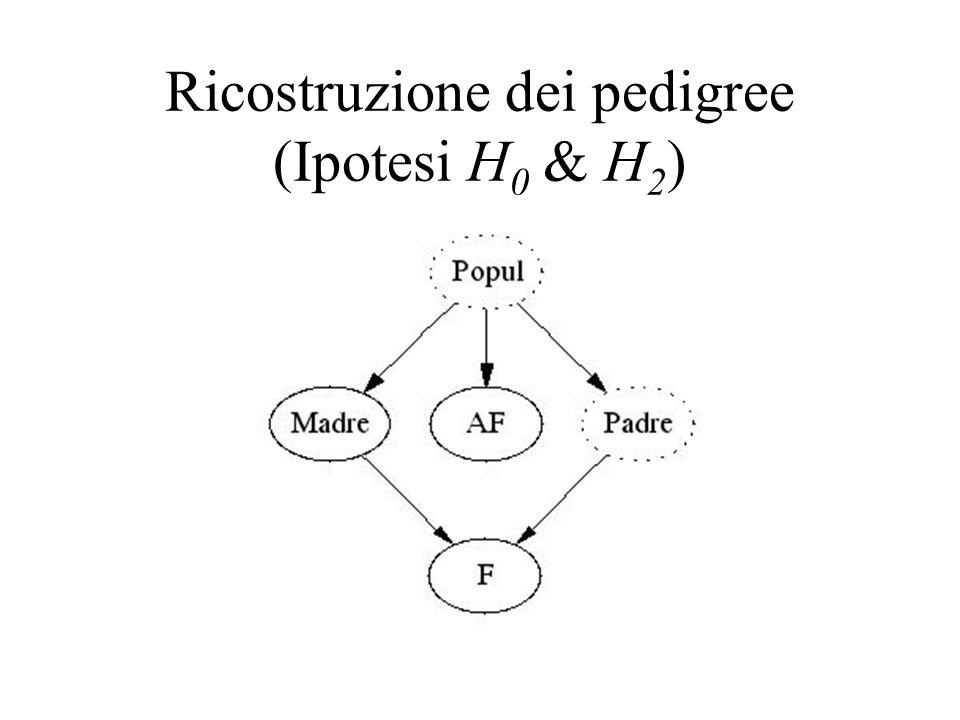Ricostruzione dei pedigree (Ipotesi H0 & H2)