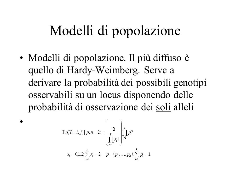 Modelli di popolazione