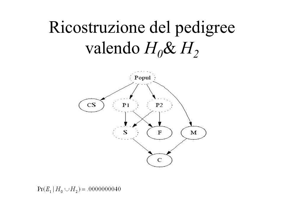 Ricostruzione del pedigree valendo H0& H2