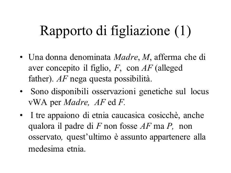 Rapporto di figliazione (1)