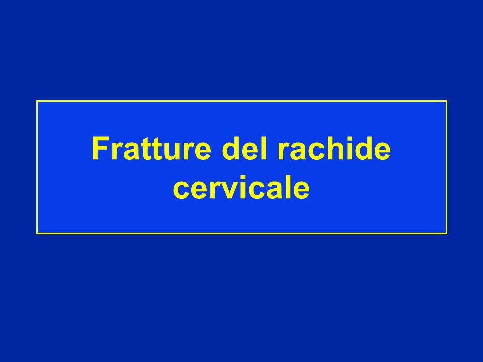 Fratture del rachide cervicale