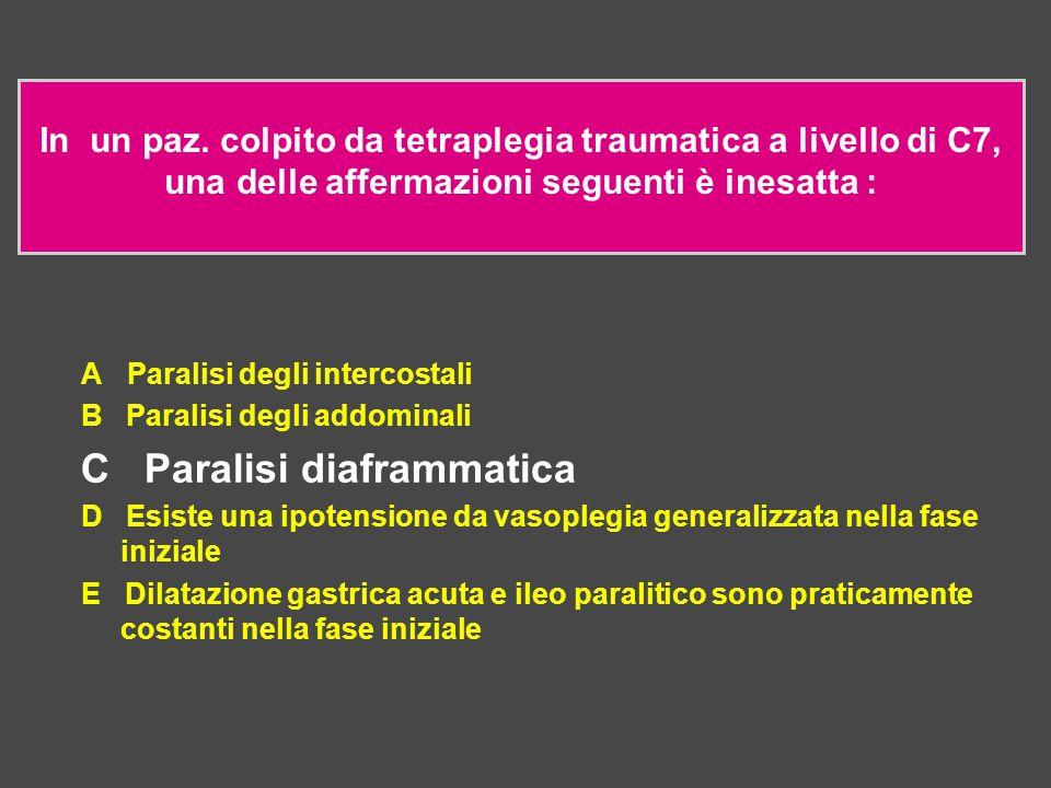 C Paralisi diaframmatica