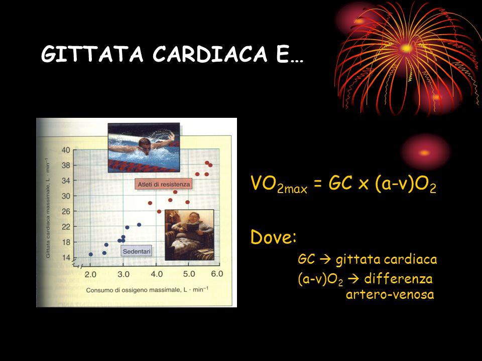 GITTATA CARDIACA E… VO2max = GC x (a-v)O2 Dove: GC  gittata cardiaca