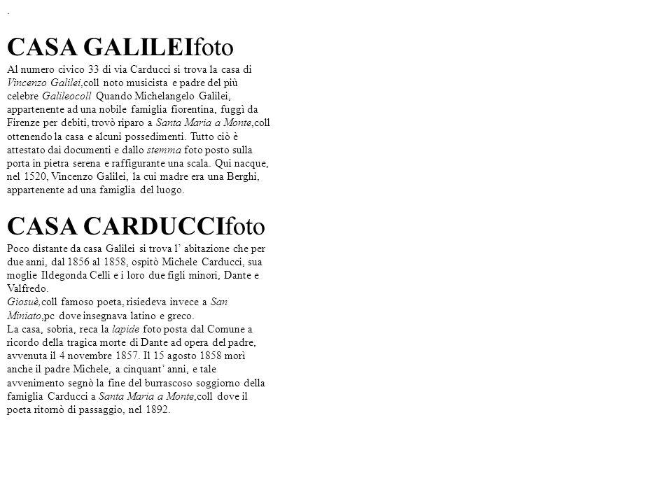 CASA GALILEIfoto CASA CARDUCCIfoto .