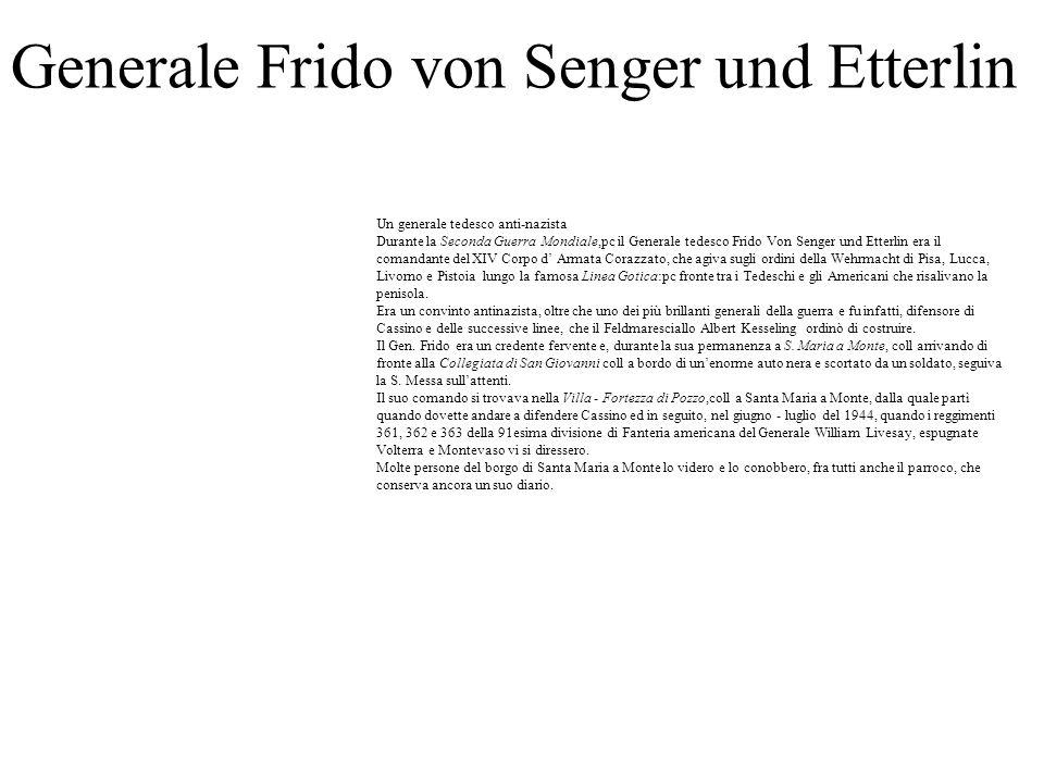 Generale Frido von Senger und Etterlin