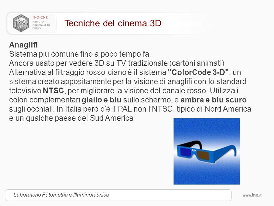 Tecniche del cinema 3D Anaglifi